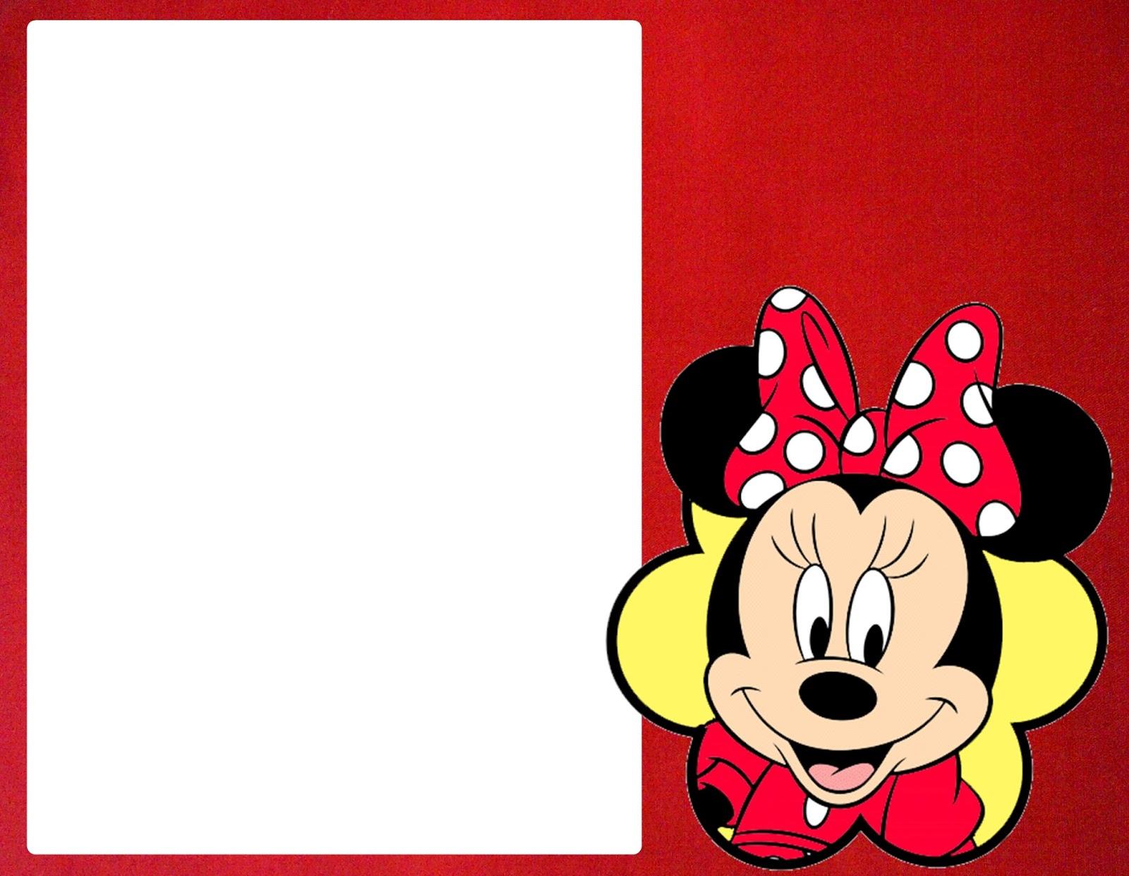 Moldura Para Convite Minnie