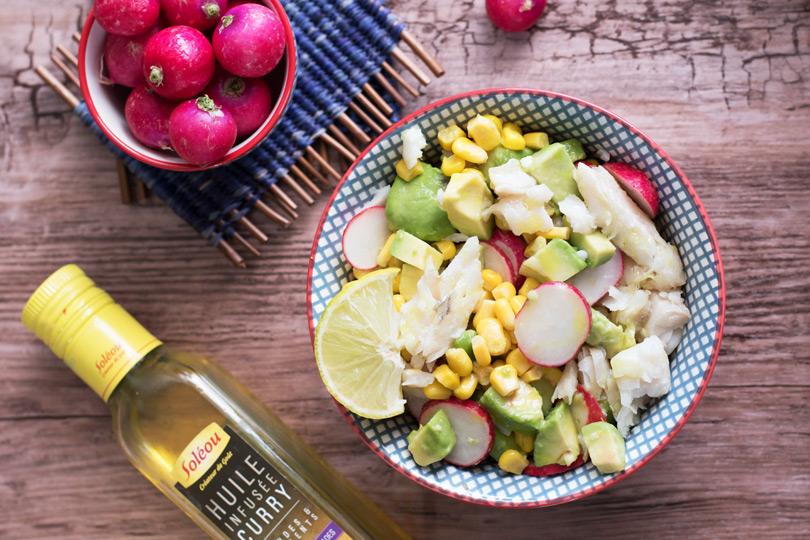 recette Salade merlan citron curry