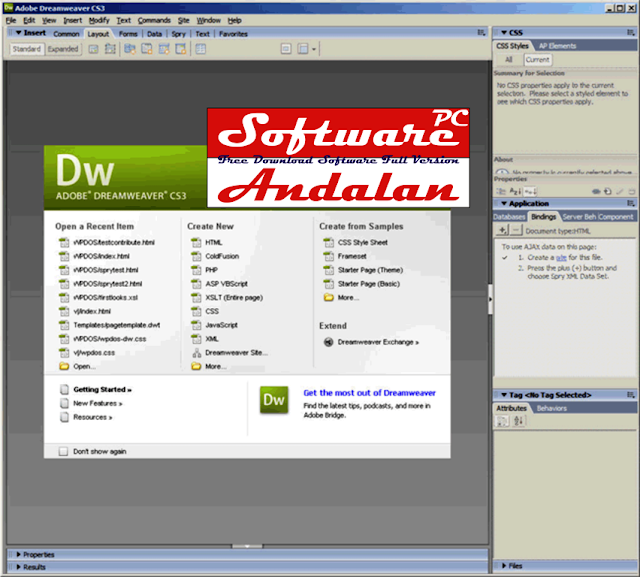 Download Adobe Dreamweaver CS3 Full Version
