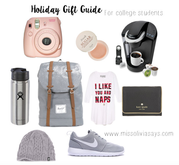 Holiday Gift ideas for College Students