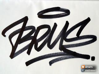 tag de brus graffiti