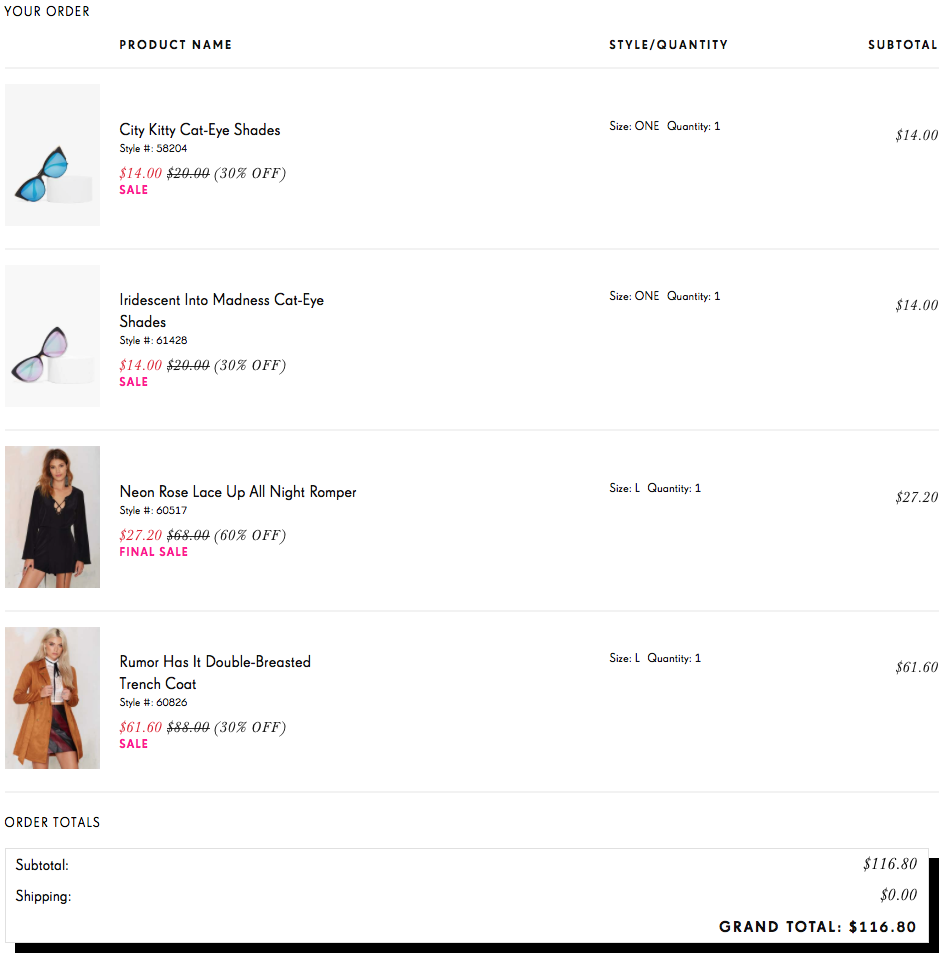 nasty gal shopping cart affordable clothing haul