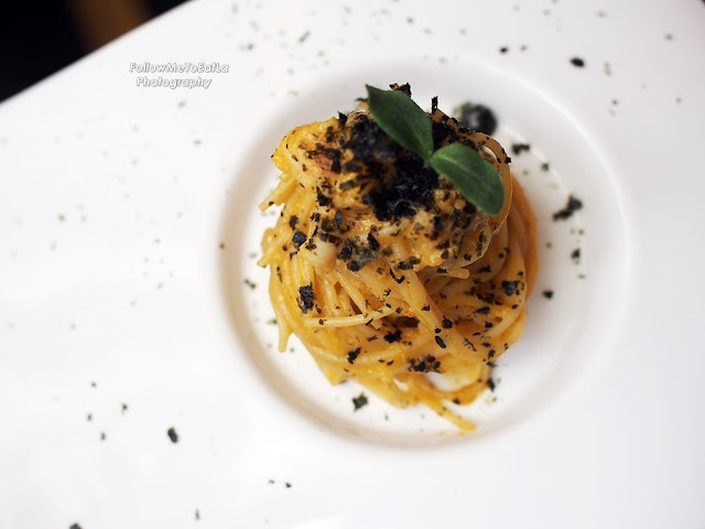Capellini Con Aracosta Angel Hair Pasta, Lobster, Seaweed, Carrot