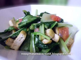 Masakan tumis mudah dari olahan tahu dan sawi merupakan resep kuliner sederhana sehari RESEP TUMIS TAHU SAWI HIJAU