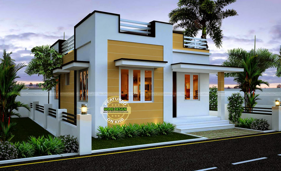 Front Elevation Of Small Bungalows : Thoughtskoto