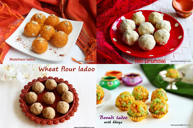 Ladoo recipes - Diwali special recipes