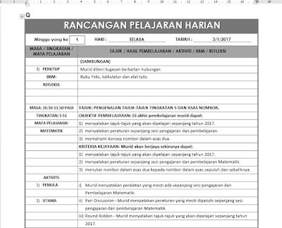 Portal Rasmi Smk Jalan Kebun Klang Tapak Fail Rancangan Pengajaran Harian Rph