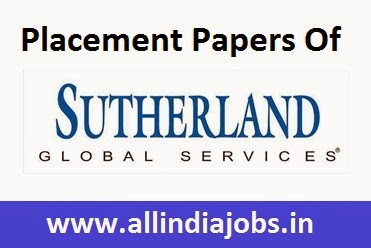 Sutherland Placement Papers Syllabus and Interview All India Jobs