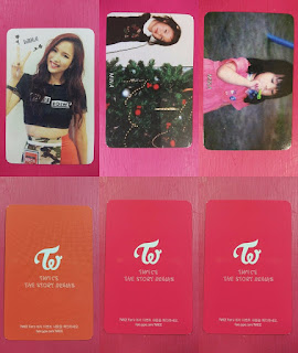 LOT OF 3 TWICE MINA Official Photocard Full Set 1st Album The Story Begins