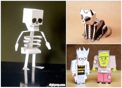 3 Figuras emblemáticas de Halloween para construir en papel