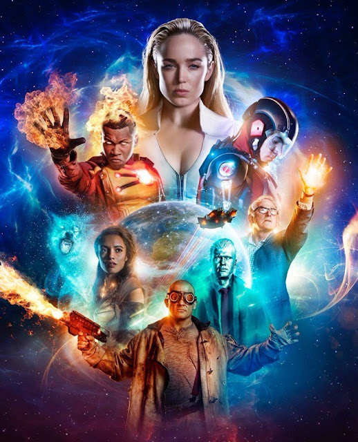 "Póster de la tercera temporada de ""DC's Legends of Tomorrow""."