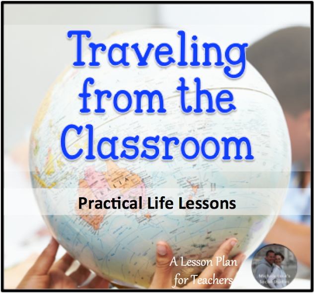 Teaching about travel can be a great Geography skills review, but also helps students dream about their future possibilities to set life goals.