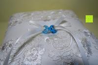 Ringe: Hochzeit Ringkissen mit Satin Bogen 21cm* 21cm