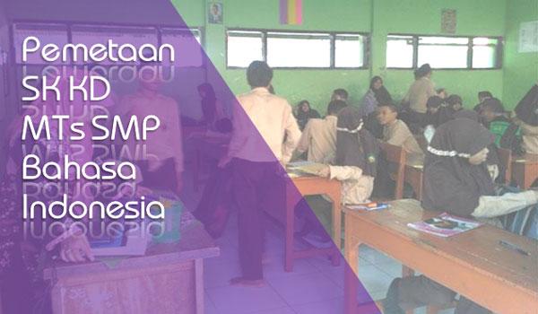 Contoh SK KD SMP MTs Mapel Bahasa Indonesia Kelas 7 8 9 Semester 1 2