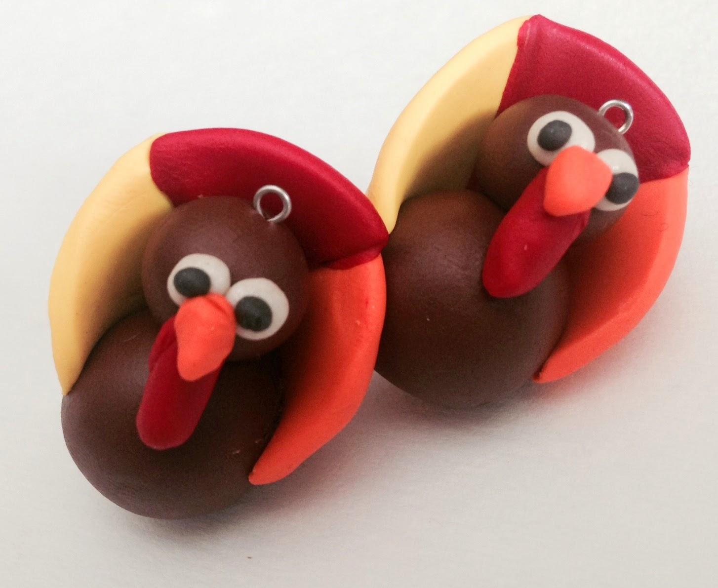 Thanksgiving DIY, Gobble Dangles, Turkey, Thanksgiving Craft, Polymer Clay