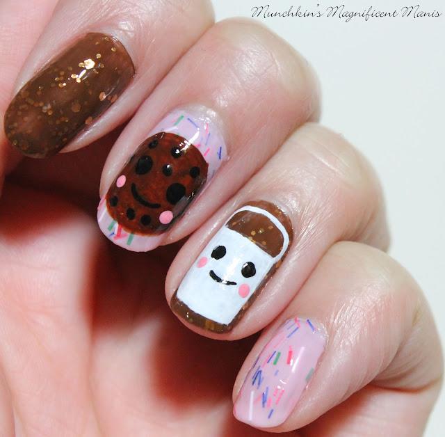 Milk and Cookies Nail Design