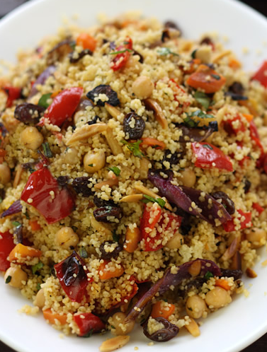 Scrumpdillyicious Moroccan Couscous With Roast Vegetables