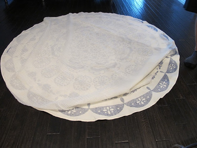 Turning A Table Cloth In To A Rug A Diy Anthropologie Rug