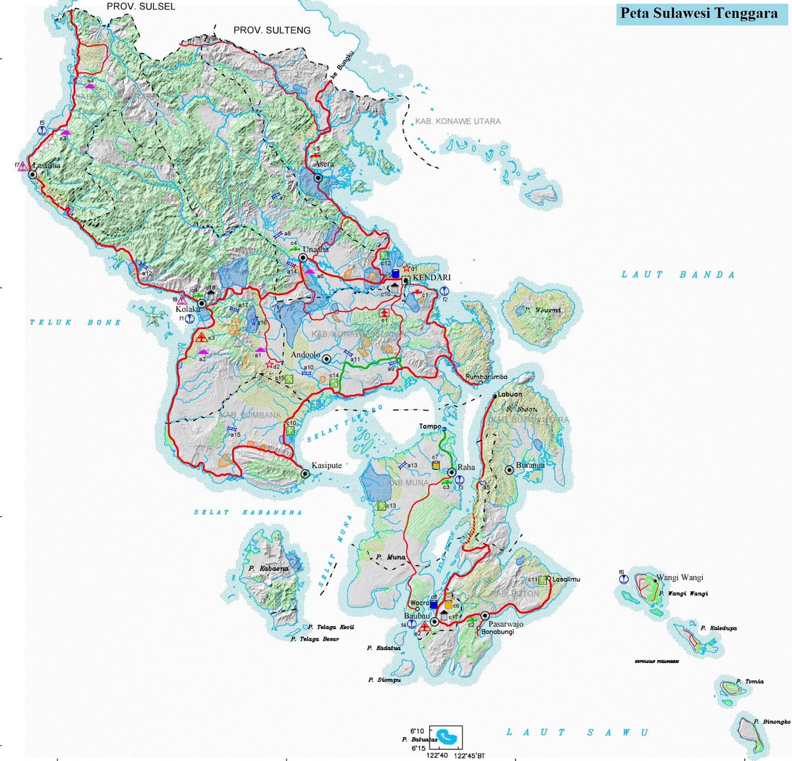 Peta Sulawesi Tenggara HD
