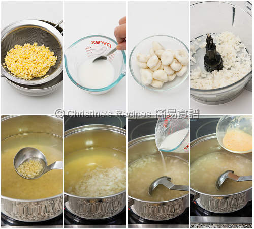 Water Chestnut Sweet Soup Procedures