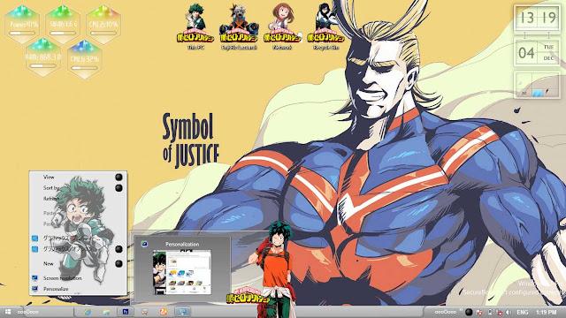 Boku no Hero Academia Theme Win 8/8.1 by Enji Riz Lazuardi