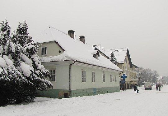 Budynek starej szkoły w Wiśle z 1824.