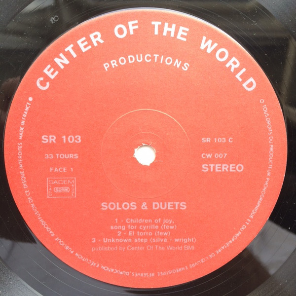 Center Of The World Solos Duets Volume 7