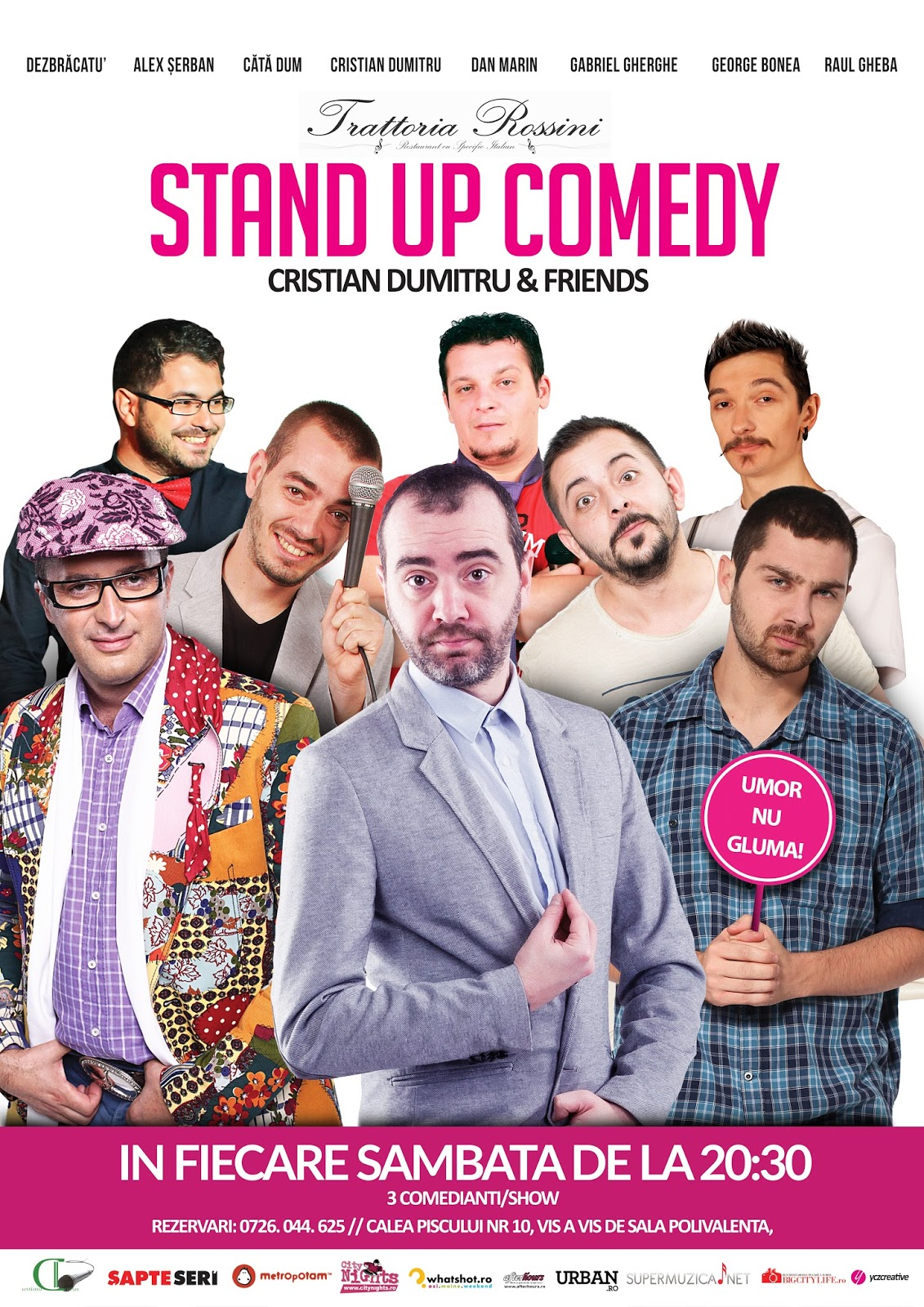 Stand-up Comedy Sambata 12 Noiembrie Trattoria Rossini Bucuresti