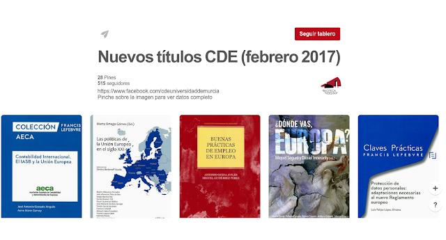 Nuevos títulos CDE (Febrero 2017)