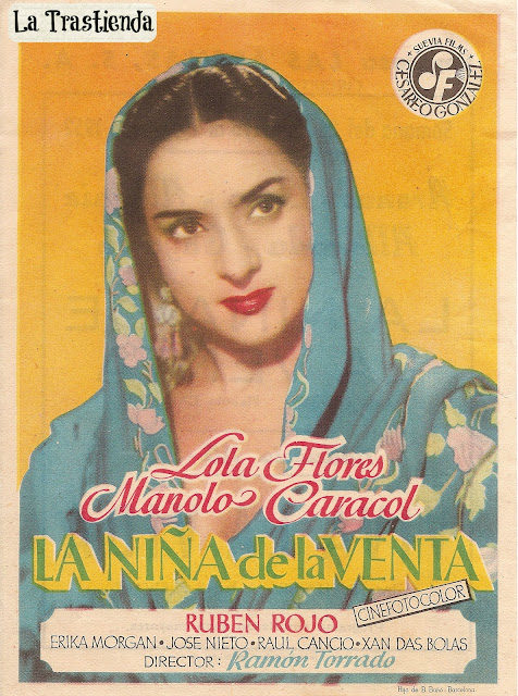 Programa de Cine - La Niña de la Venta - Lola Flores - Manolo Caracol