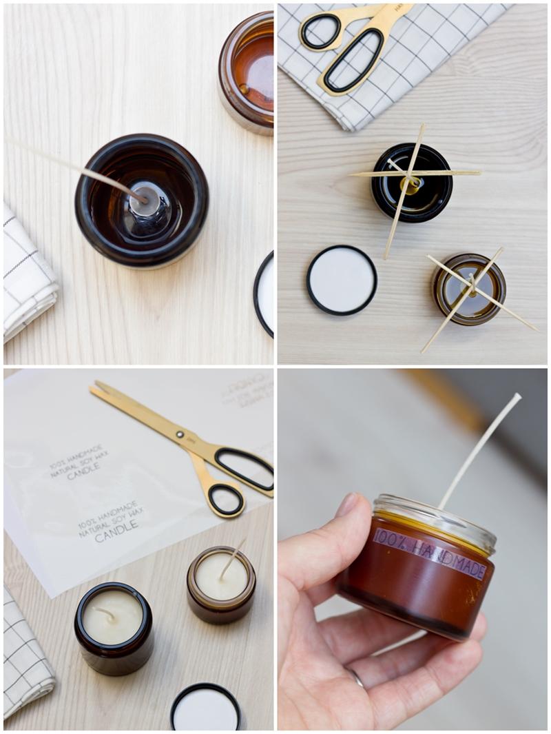 instrukcja jak zrobić świeczki ze słoiczków po kremach