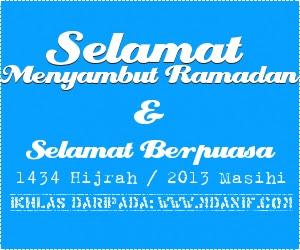 Selamat Menyambut Ramadan, Selamat Berpuasa Pada Semua