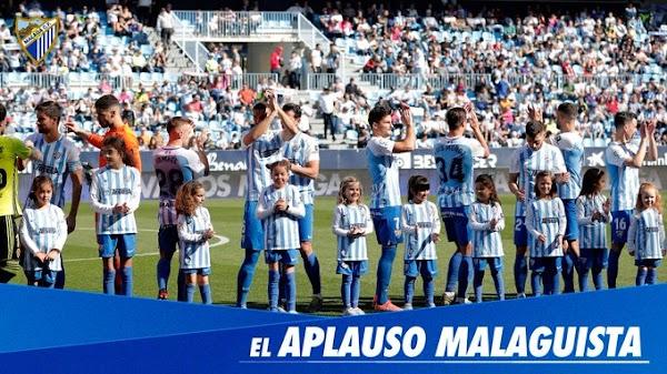 """El Málaga prepara para mañana el """"Aplauso Malaguista"""""""