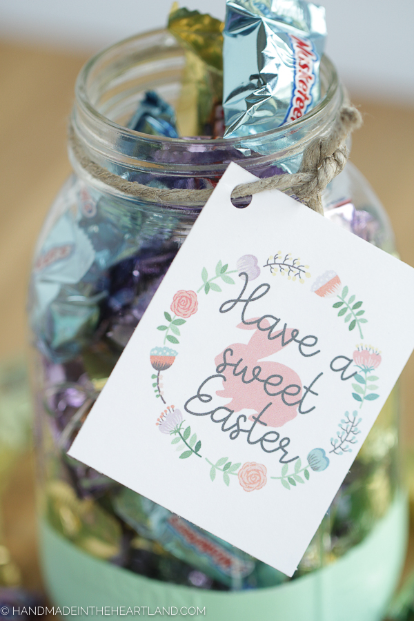 "Free Easter printable gift tag ""Have a sweet Easter"""