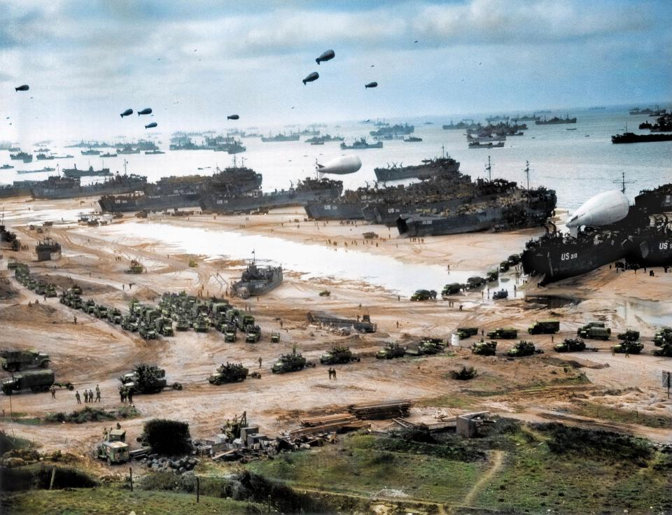 D-Day in Color: Stunning Retouched Photos of Brave Allied Troops Landing Normandy Beaches in June, 1944