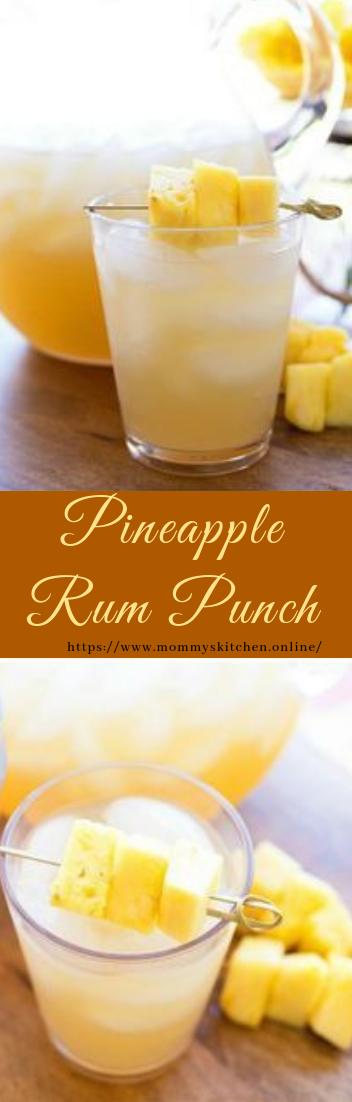Pineapple Rum Punch #healthydrink #easyrecipe