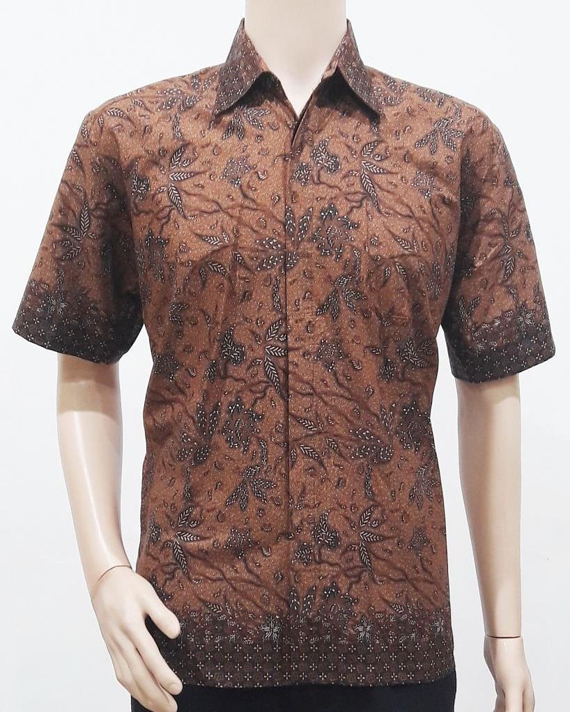 Batik Motif Bunga Pria: Model Baju Batik Pria Motif Sogan