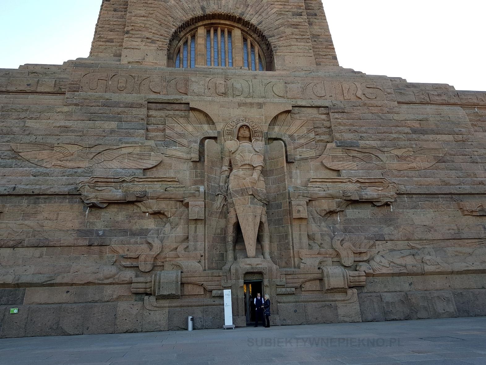 Lipsk pomnik bitwy narodów wejście
