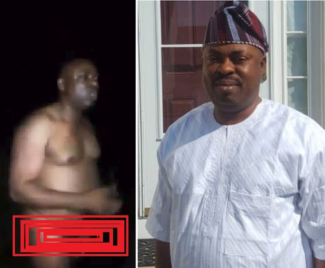 VIDEO; Osun State Majority Leader Of House If Assembly Timothy Owoeye Allegedly Caught Bathing With Blood.