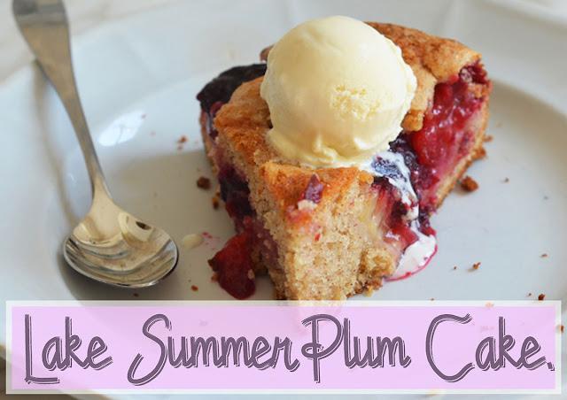 A simple of homey dessert plum cake.
