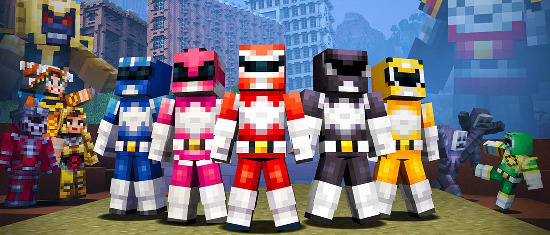Minecraft nos sorprende con dos packs de skins: Power Rangers y Glide