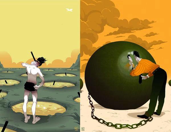 Ilustraciones de Baran Sarigul.