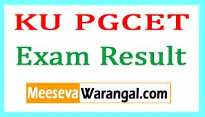 KU PGCET 2017 Exam Results- Kakatiya University PGCET Result 2017