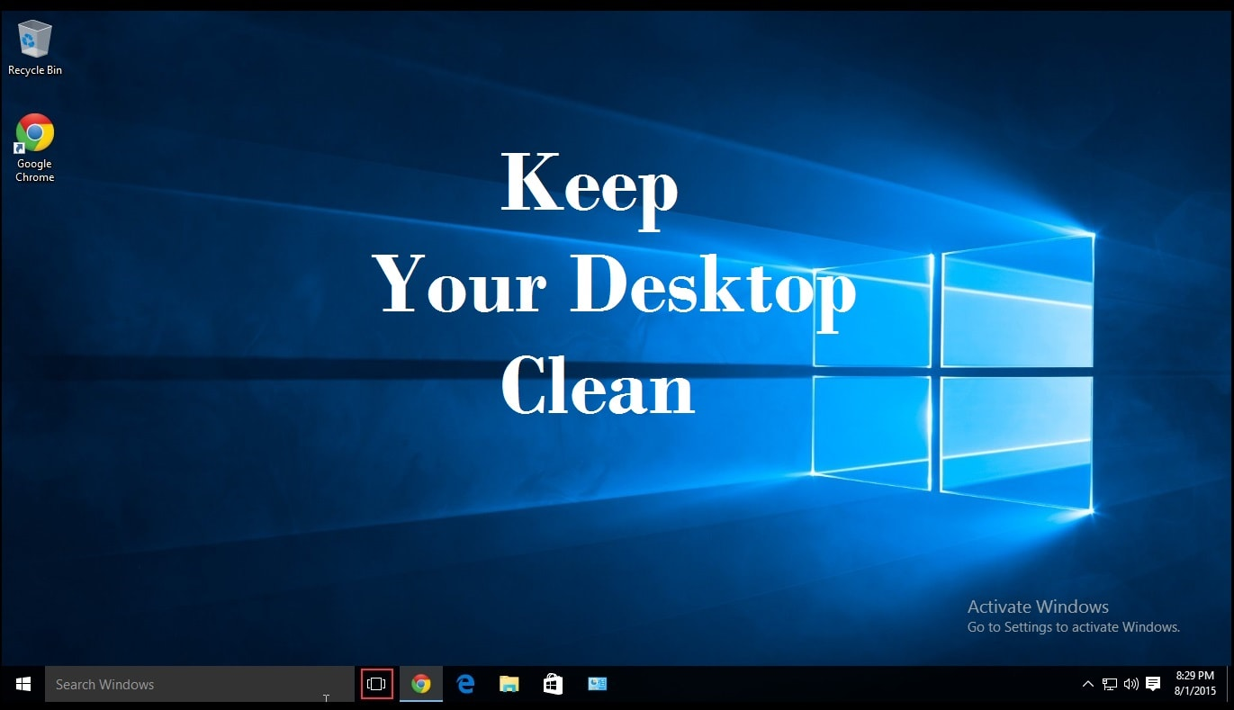 keep-desktop-clean