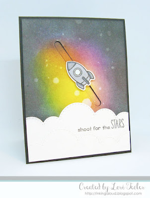 Shoot for the Stars card-designed by Lori Tecler/Inking Aloud-stamps from Lawn Fawn