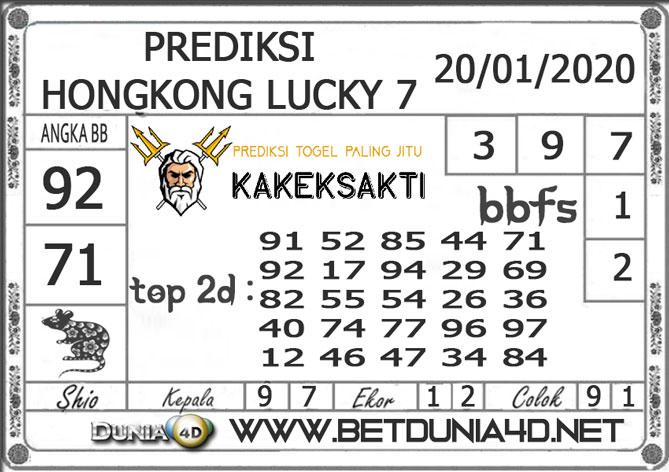 Prediksi Togel HONGKONG LUCKY7 DUNIA4D 20 JANUARI 2020