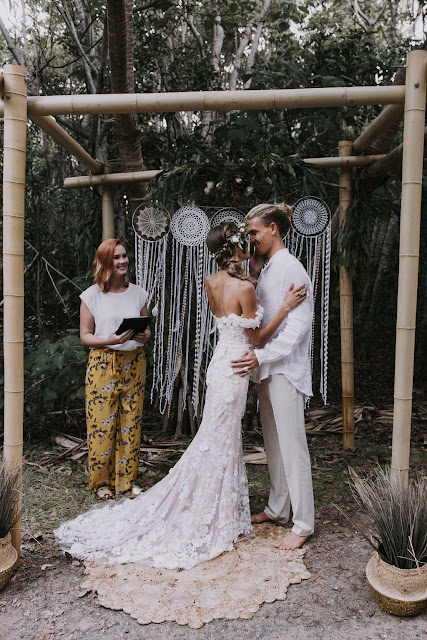 GOLD COAST WEDDINGS FINGAL HEAD BOHEMIAN BEACH WEDDING