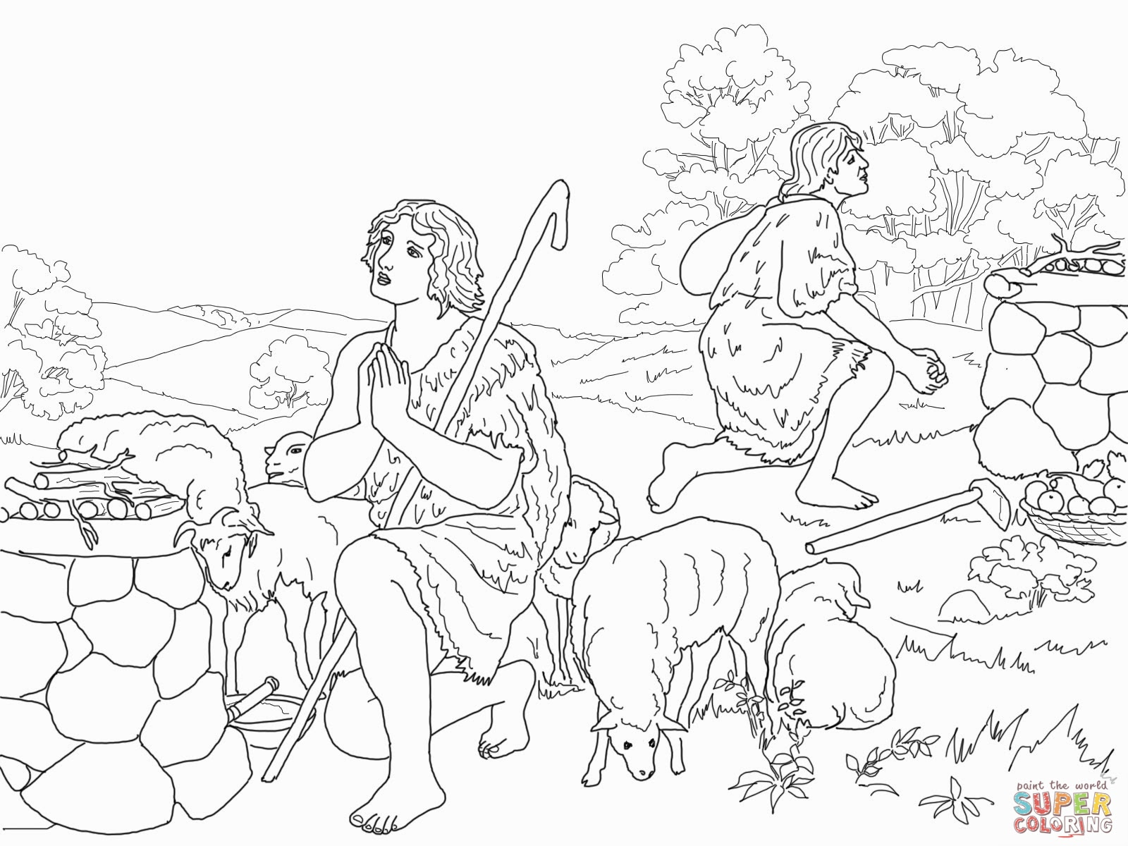 Dibujo De Abraham Para Colorear Dibujos Cristianos Para