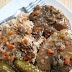 Duszona szynka w sosie grzybowym
