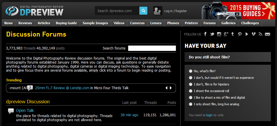 Top 15 Best Photography Forums | Photography & Tech Update